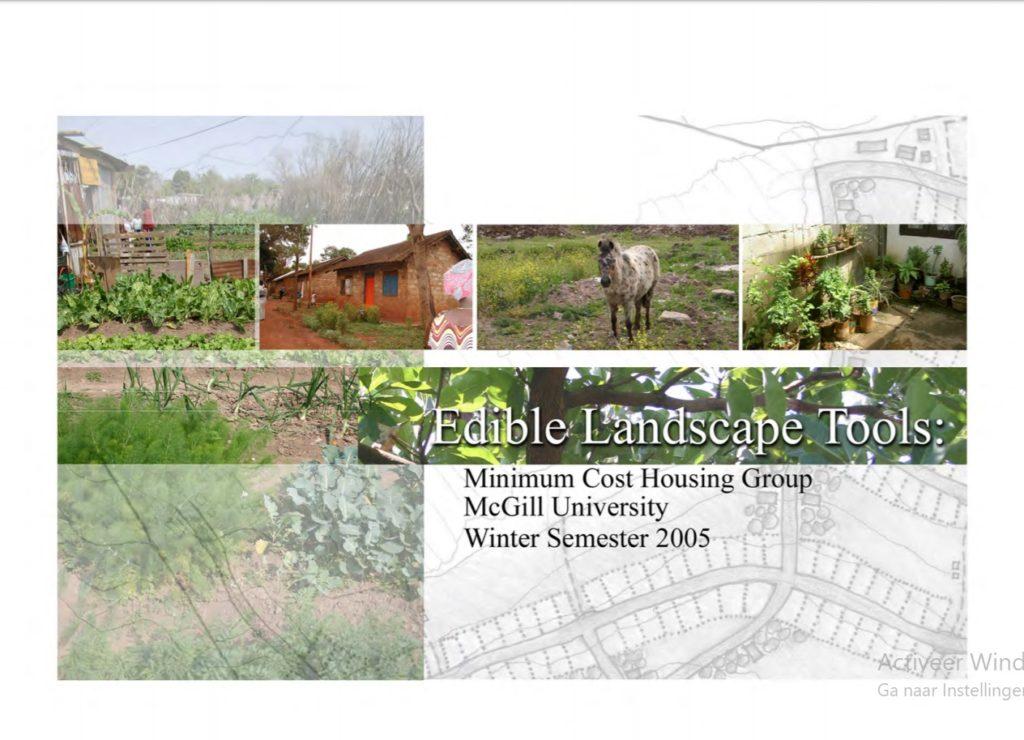 Edible Landscape Tools