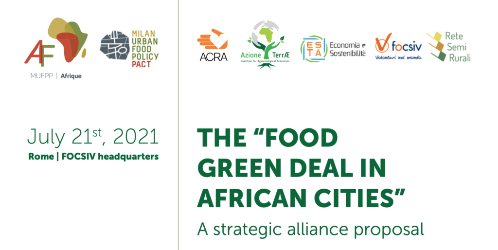 """RUAF presents the Milan Urban Food Policy Pact Monitoring Framework Handbook and Resource Pack at """"The Food Green Deal in African cities"""" event"""
